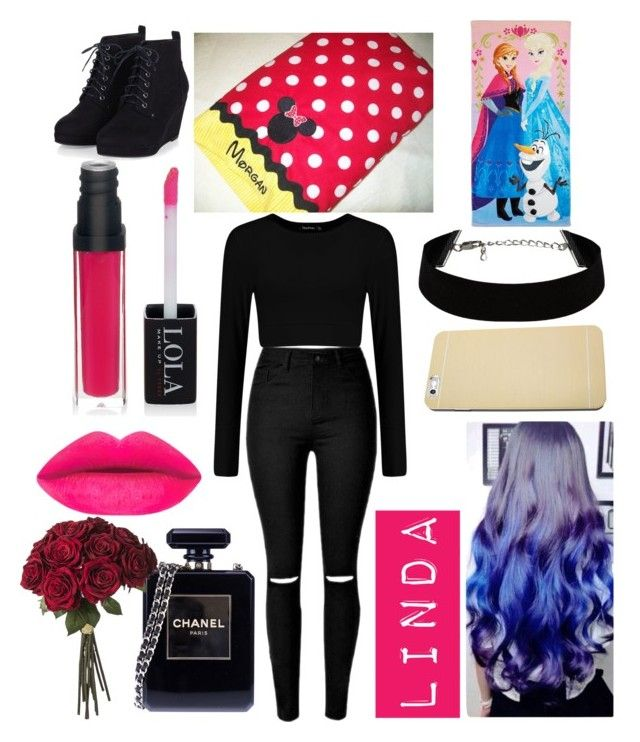 """linda"" by ella1122ghost on Polyvore featuring beauty, Chanel and Disney"