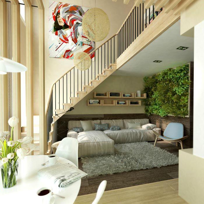 Вертикальное озеленение интерьера московской квартиры