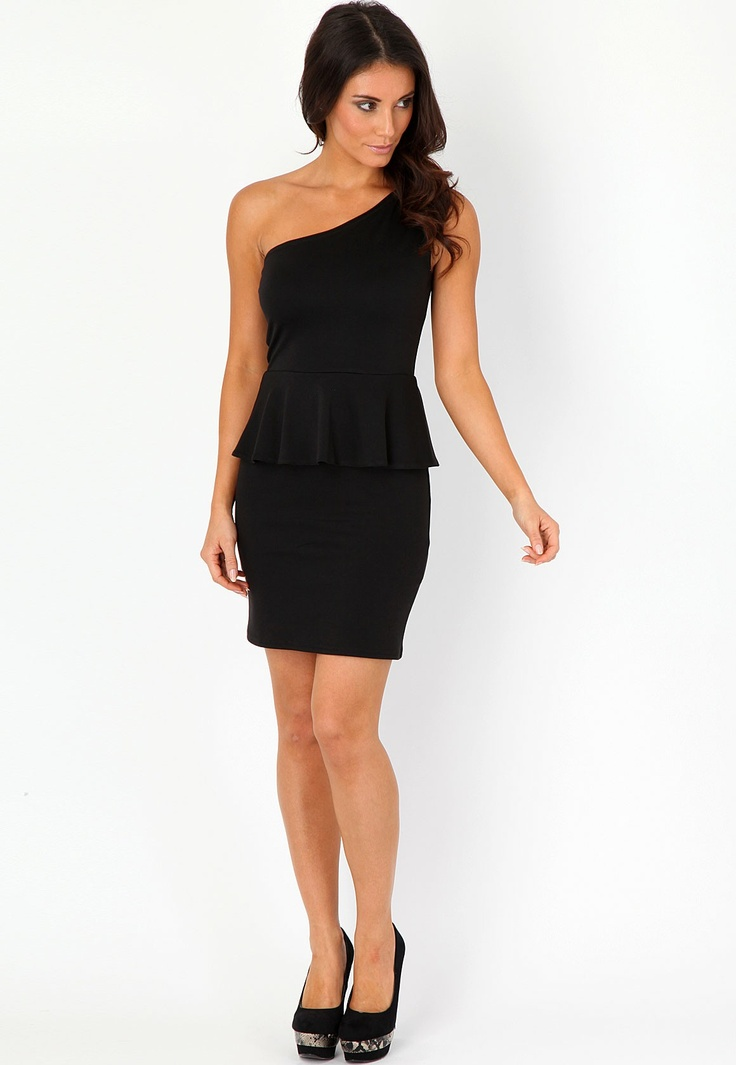 Denna One Shouldered Peplum Dressloovvve this someone please get me this please? :)