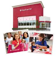 American Girl currently donates one doll w/book every three years to non-profit 501C3 groups for raffle, auction, etc. Submit your request early, it will arrive in less then a month most of the time w/o notice of approval. Value: $110. http://www.americangirl.com/corp/corporate.php?section=about=5