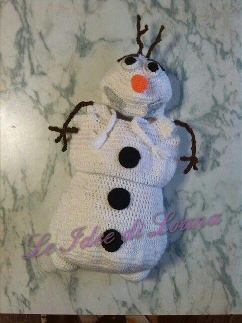 Olaf uncinetto. Cocoon e cappello Olaf :)