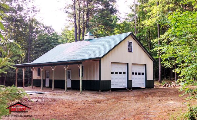 Residential polebarn building in thurman new york pole for Residential pole barn homes