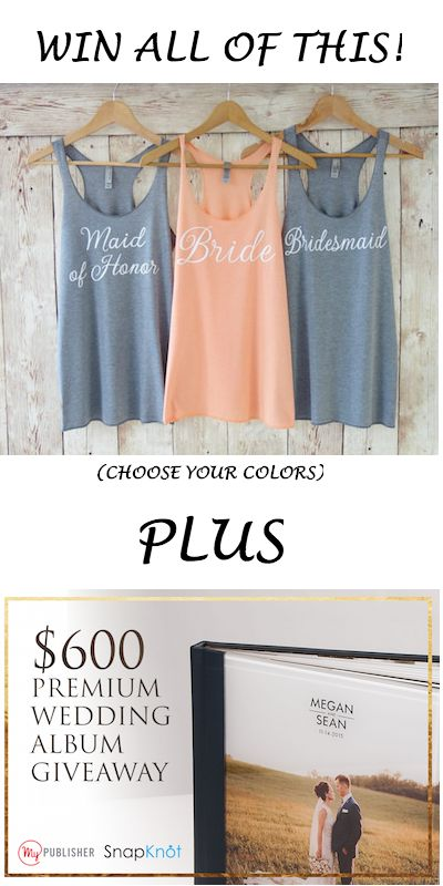 Getting married? You can win these sweet shirts FREE from SnapKnot AND a $600 wedding album from MyPublisher!