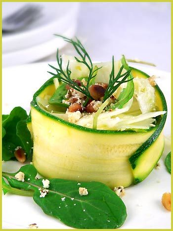 Arugula, Zucchini and Fennel Salad — Salade de fenouil, courgette et roquette | La Tartine Gourmande
