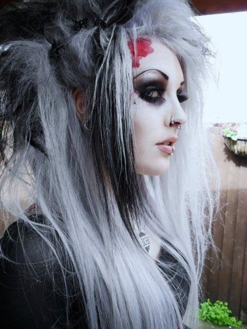 Goth Gray Hair Grey Pinterest