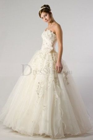 Remarkable Strapless Bubble Wedding Dress - MAYBE (NO)