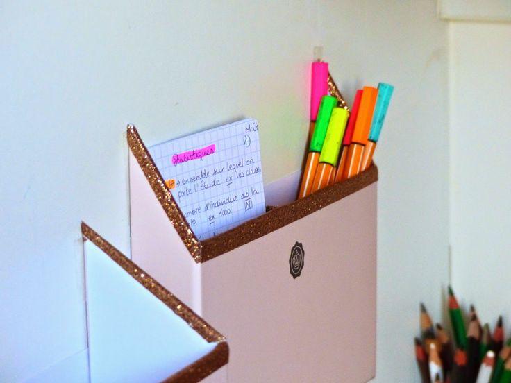 DIY - Organiser ses fiches avec une Glossybox / D-I-WOW.blogspot.fr