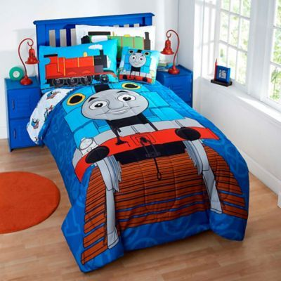 Thomas The Tank Engine 6 7 Piece Reversible Twin Comforter Set    BedBathandBeyond.com