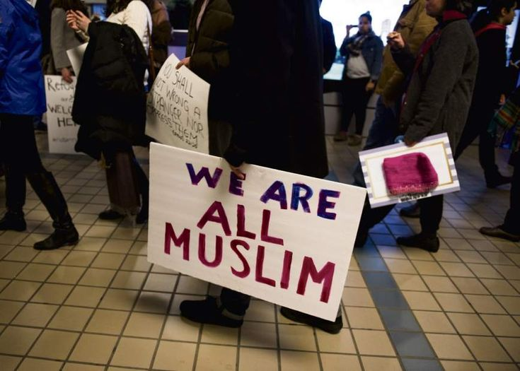 More than 300 protest Trump's immigration ban at Pittsburgh International Airport | TribLIVE