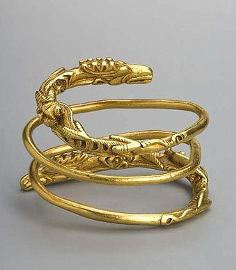 Bracelet 1st century B.C. Gold Lower Volga. Volgograd Region, Proleisky District, Village of Verkhneye Pogromnoye Burial site. Barrow No. 2, Burial No. 2