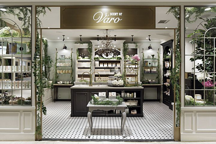 Дизайн интерьера магазина Scent of Varo от АССА Inc в Японии