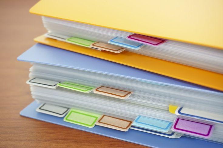Dicas para organizar seus documentos