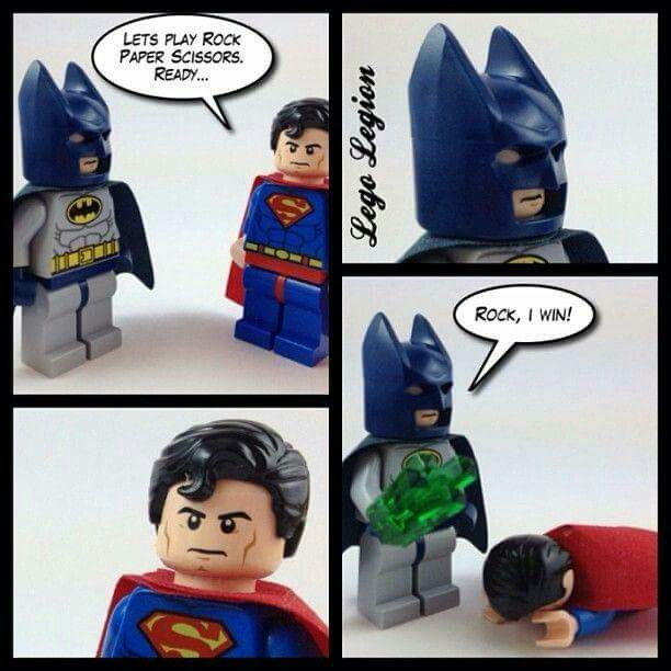 Let´s play Rock Paper Scissors--- Batman & Superman