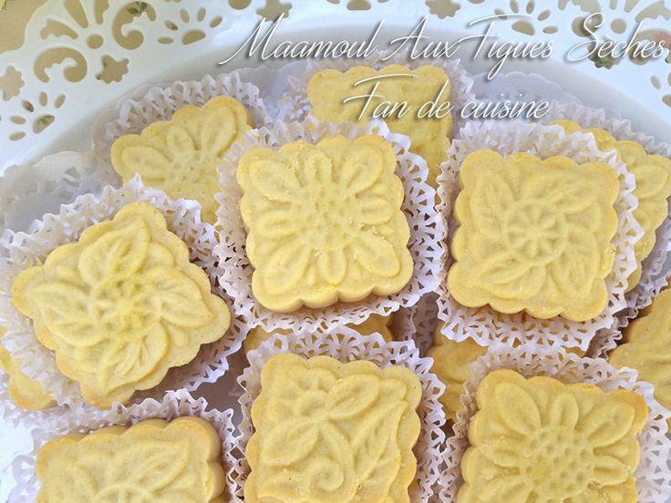 Asalam Alaykom, Je vous propose aujourd'hui un gâteau très savoureux, maamoule aux figues sèches.
