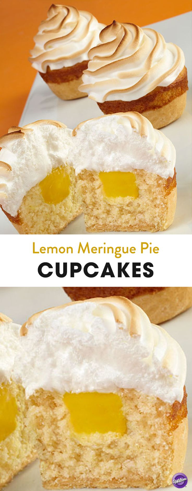 Lemon Meringue Pie Cupcakes Recipe - Get the tangy flavor of lemon in these lemon meringue pie cupcakes! Recipe makes about two dozen cupcakes.