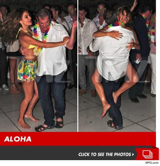Mel Gibson dancing with Maria Menounos