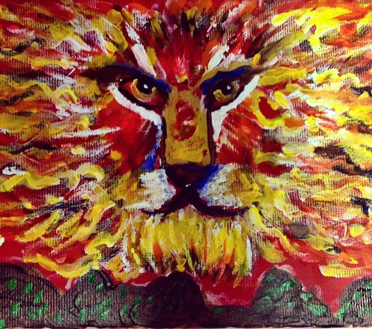 A lion made of fire that roars over the seemingly difficult mountains and makes them insignificant . There are new shoots growing in the darkest times as we look to Jesus. -Jotham Broom