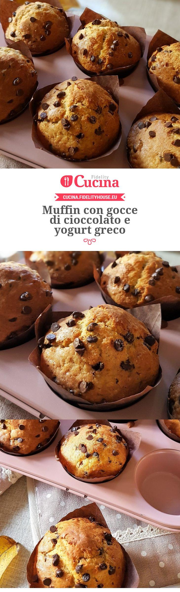 Muffin con gocce di cioccolato e yogurt greco della nostra utente Grazia. Unisciti alla nostra Community ed invia le tue ricette!