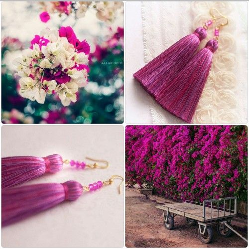"Efulki Tassels ""Shades of Bougainvillea"""
