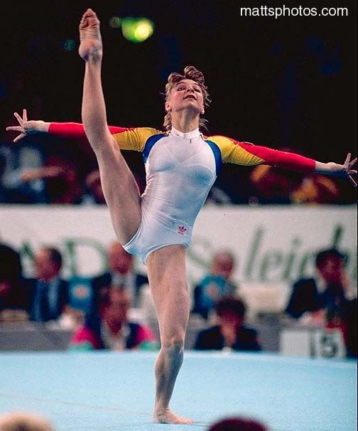 Daniela Silivas 1989. This Photo was uploaded by gymnstands.
