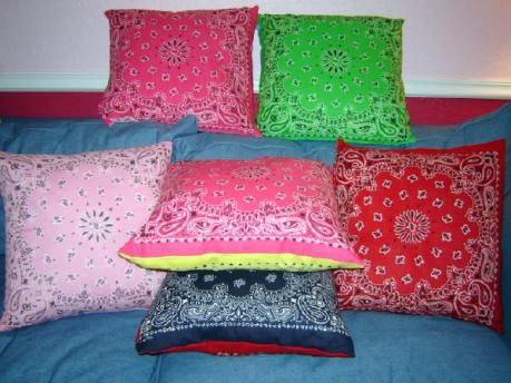 Fun with bandanas, Great decor DIY ideas for the dorm room, and home