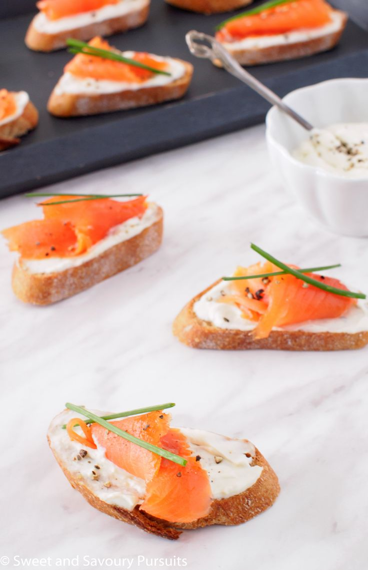 Smoked Salmon and Boursin Crostini | From Sweet and Savoury Pursuits