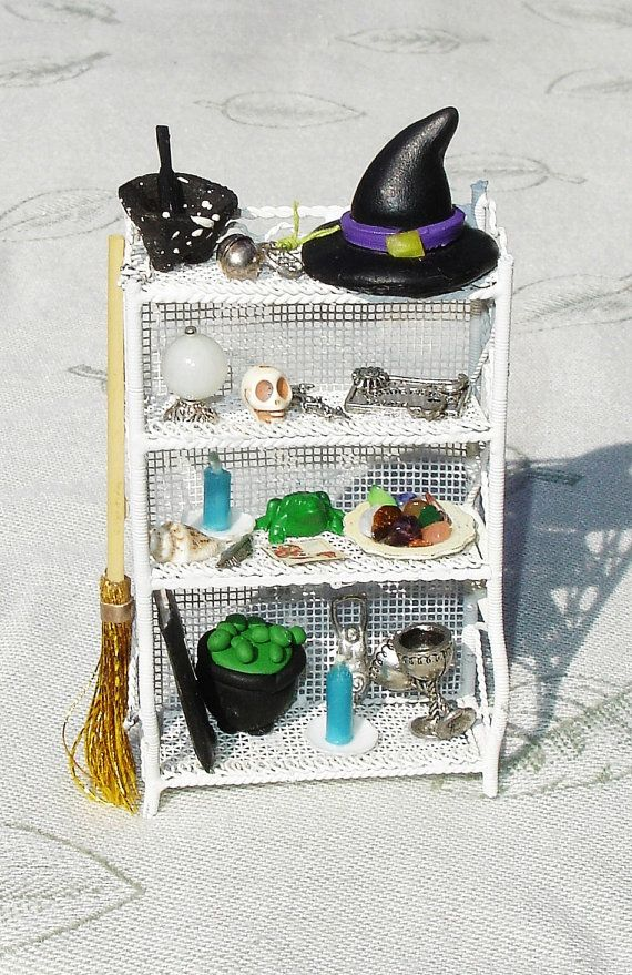 wiccan witches miniature spooky dollhouse furniture doll miniatures