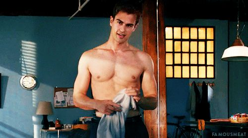 No? What about Theo James being shirtless and sexy AF? | Can You Make It Through This Post Without Getting Pregnant