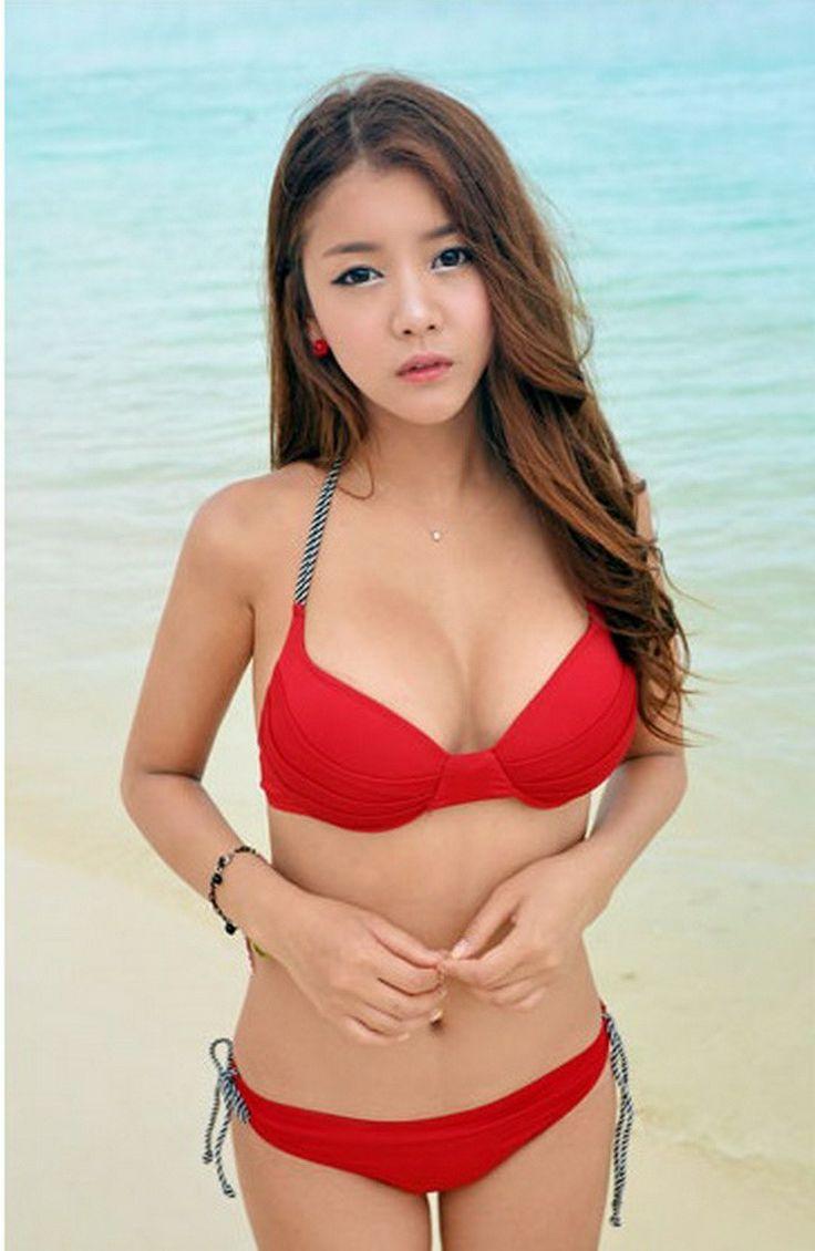 Asian Red Bikini