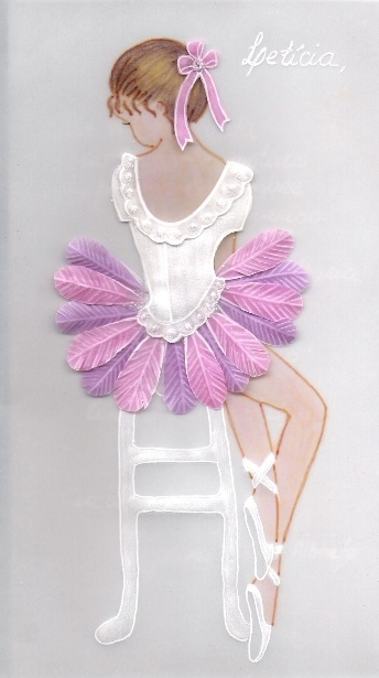 Birthday card. Absolutely beautiful! Love the feathers used to make to tutu