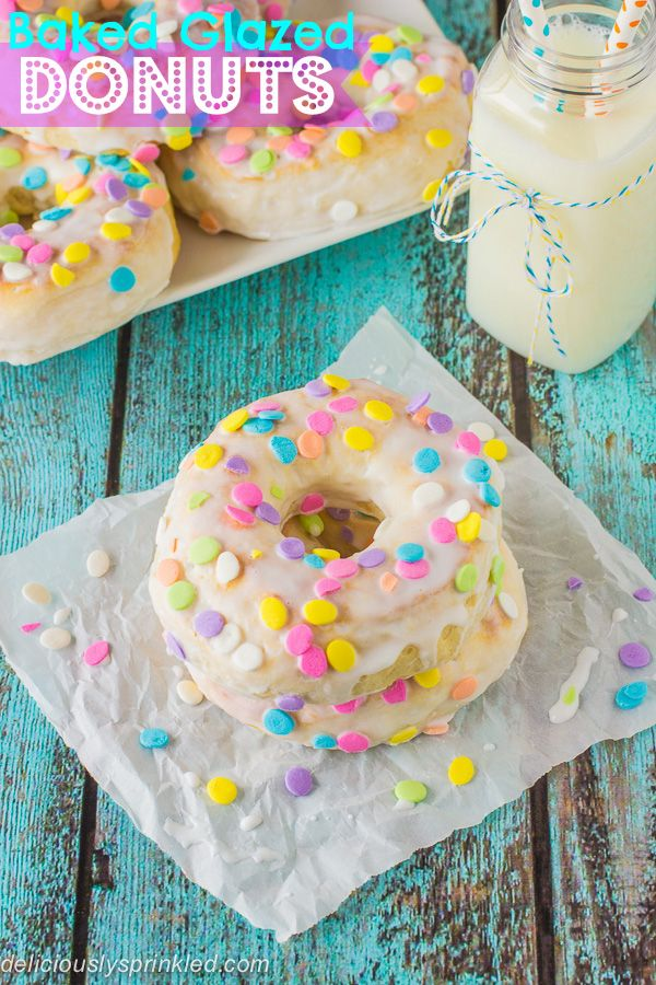 Baked Donuts with Vanilla Glaze @FoodBlogs