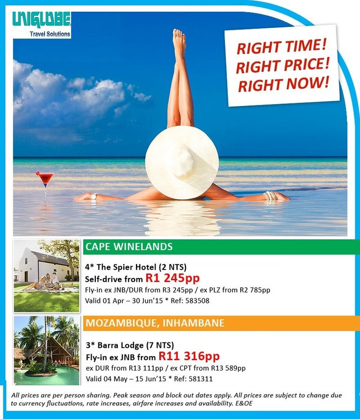 Get the best prices africa Inhambane, Mozambique from R11316pp Barra Lodge 7 nights