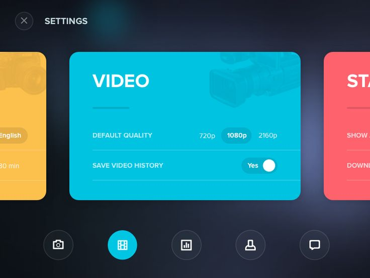Dribbble - Settings card shared via https://chrome.google.com/webstore/detail/design-hunt/ilfjbjodkleebapojmdfeegaccmcjmkd?ref=pinterest