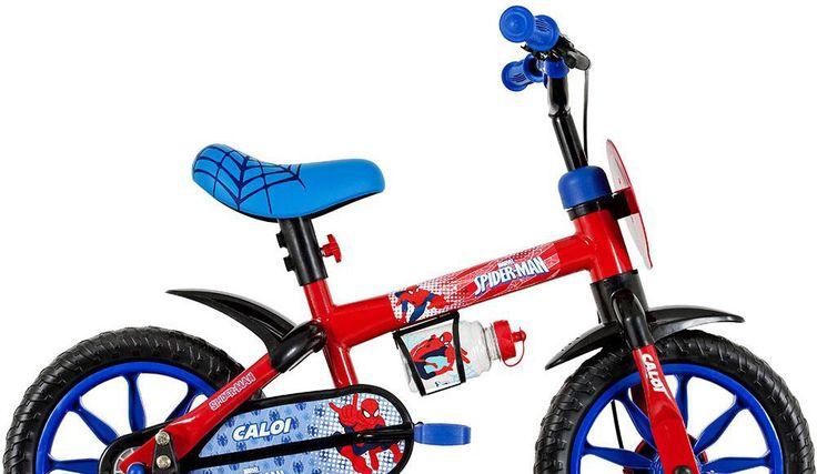 Bicicleta infantil Aro 12 Spider Man Caloi Vermelho - Caloi com o melhor preço é no Walmart!