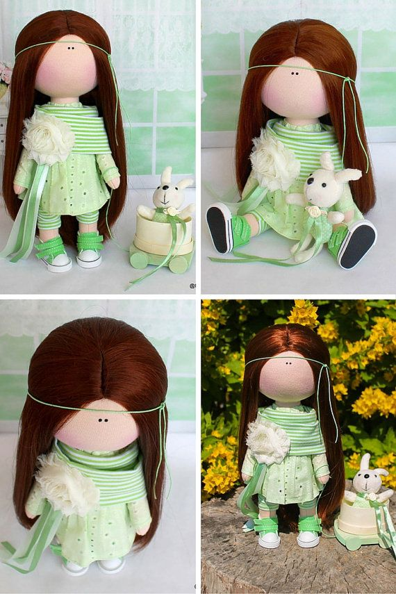 Textile doll Fabric doll Handmade doll Soft by AnnKirillartPlace