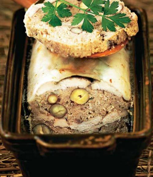 Terrina de faisán y avellanas #cuisine #recipes