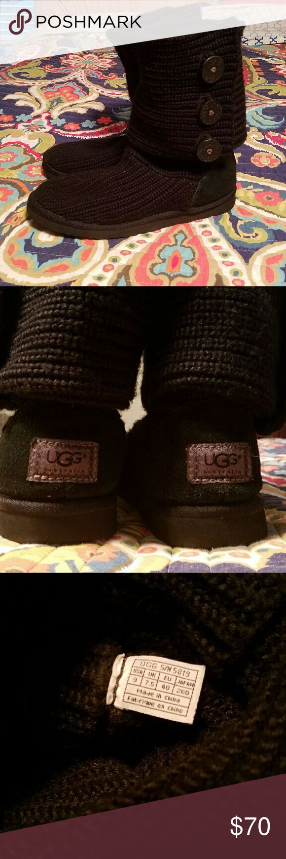 UGG CARDY Boots | 9 | Black Black UGG Cardy boots.  Size 9.  EUC. UGG Shoes