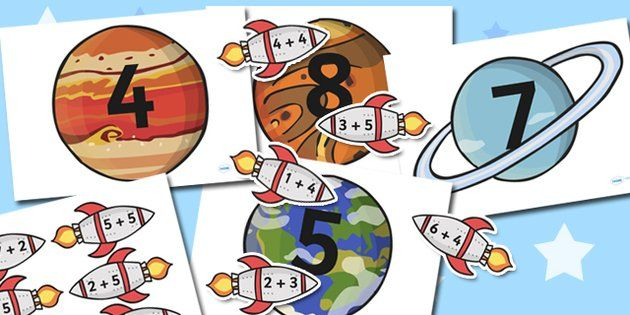 Space Themed Addition to 10 Activity - sapce, addition, maths - twinkl