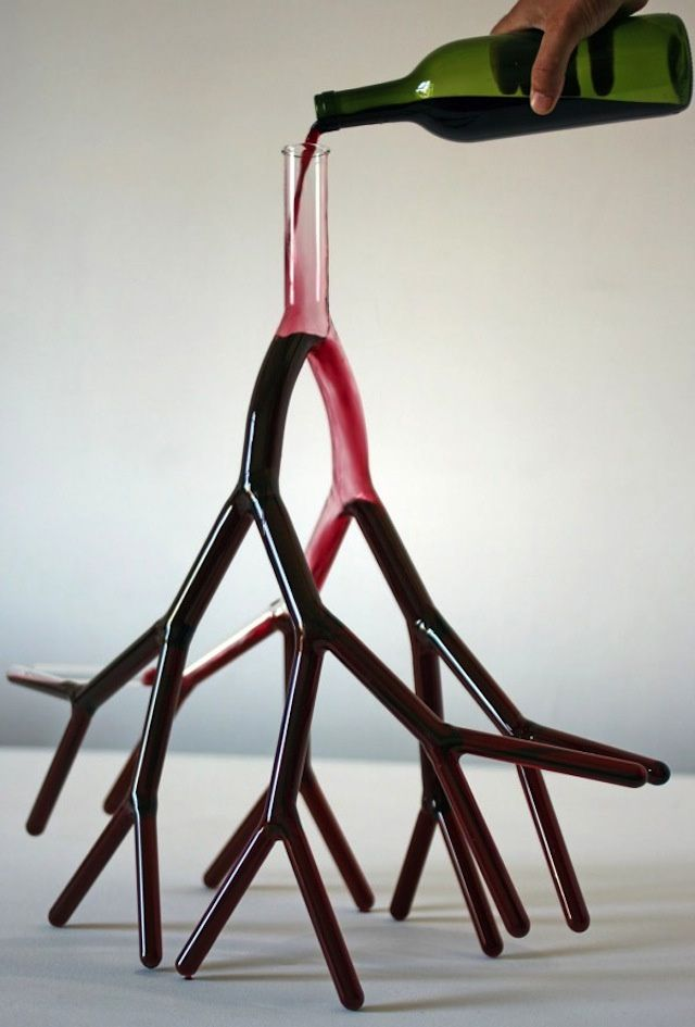 And now, a wine carafe shaped like blood vessels