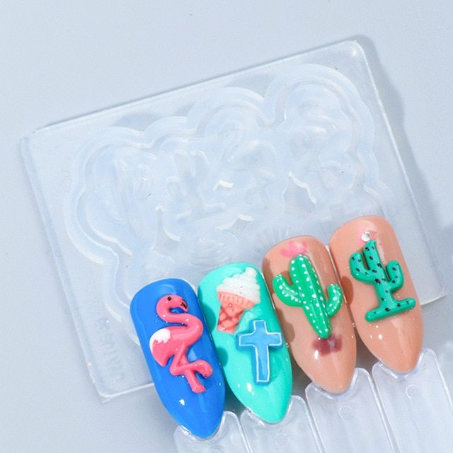 3d Silicone Mold Stamping Carving Nail Art Template Flowers