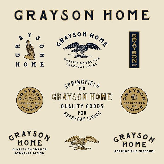 Instagram media benkocinski - Full branding for @graysonhome in alternative color way.