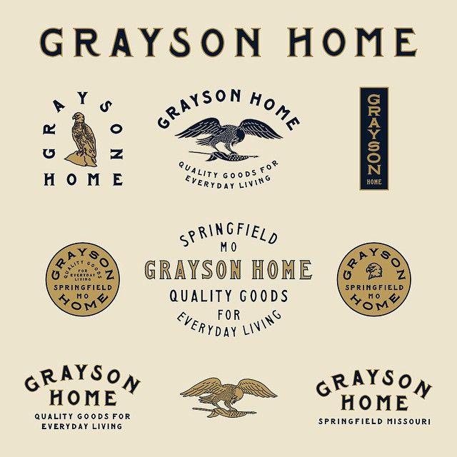 Instagram media benkocinski - Full branding for @graysonhome in alternative color way.
