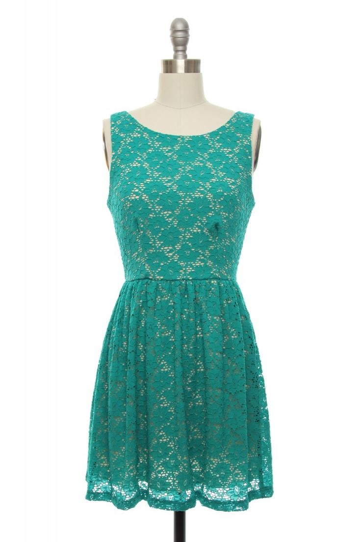 The Zooey Dress in Teal | Vintage, Retro, Indie Style Dresses