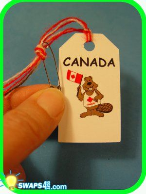 Tag swap - this one is Canada, but you could do it for any country.