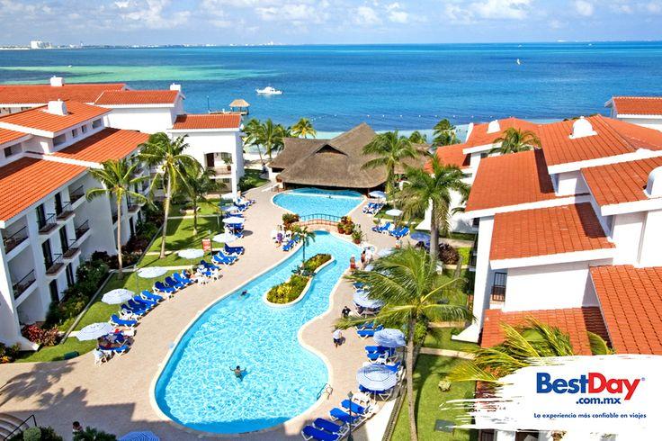 The Royal Cancun se localiza en la Zona Hotelera de #Cancun y se encuentra frente al Mar Caribe. Este resort es ideal para unas vacaciones familiares, cuenta con villas equipadas con sala de estar y comedor. Además este hotel ofrece servicio de spa, piscinas, playa, Internet inalámbrico en cortesía, área de juegos infantiles y actividades recreativas. #BestDay #OjalaEstuvierasAqui