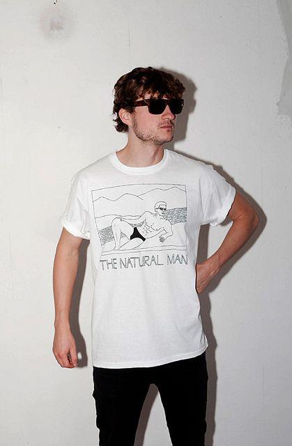 NATURAL MAN T-shirt  http://luksodrome.com  #t-shirt #fashion #london #white #handsome #natural #man #natural man