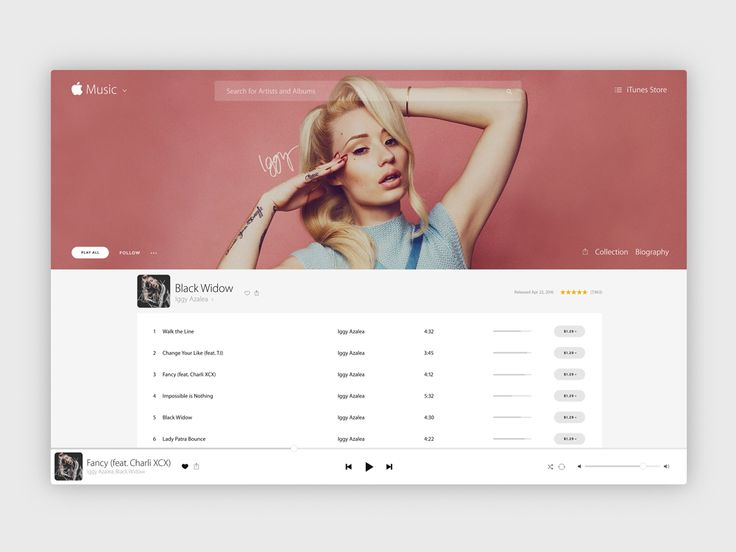 Apple iTunes Interface Redesign from the Envato Community