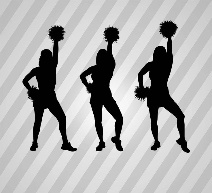 Cheerleaders Silhouette Cheerleader - Svg Dxf Eps Silhouette Rld RDWorks Pdf Png AI Files Digital Cut Vector File Svg File Cricut Laser Cut
