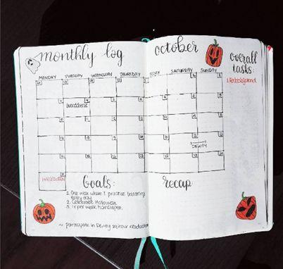 #Bulletjournal Setting up October.