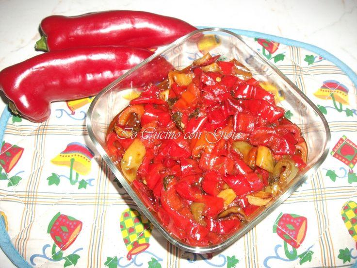 """peperoni """"accutturati"""" alla siciliana blog.giallo zafferano.it/iocucinocongioia"""